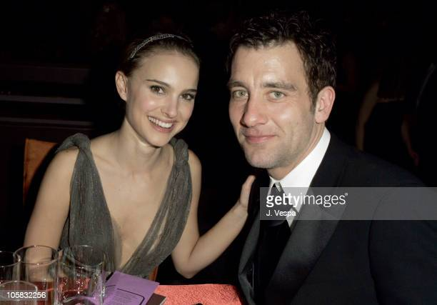 Natalie Portman and Clive Owen during The 77th Annual Academy Awards Governors Ball at Kodak Theatre in Hollywood California United States