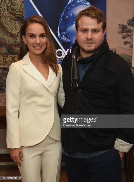 Natalie Portman and director Brady Corbet attend the 'Vox Lux' New York Screening at the Whitby Hotel on December 13 2018 in New York City