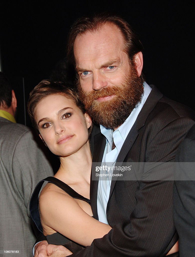 Natalie Portman and Hugo Weaving during 'V For Vendetta' New York City Premiere - Arrivals and After Party at The Rose Theatre - Frederick P. Rose Hall in New York City, New York, United States.