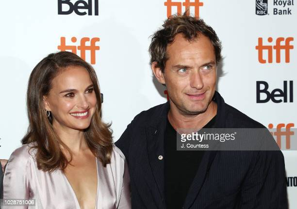 Natalie Portman and Jude Law attend the premiere of Vox Lux at The Elgin on September 7 2018 in Toronto Canada