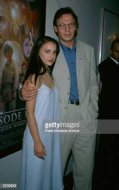 Natalie Portman and Liam Neeson at the premiere of Stars Wars Episode 1 The Phantom Menace held in New York City on May 16 2000 Photo by Frank...