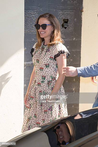 Natalie Portman arrive at Lido during the 73rd Venice Film Festival on September 7 2016 in Venice Italy