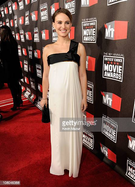 Natalie Portman arrives at the 16th Annual Critics Choice Movie Awards at the Hollywood Palladium on January 14 2011 in Los Angeles California