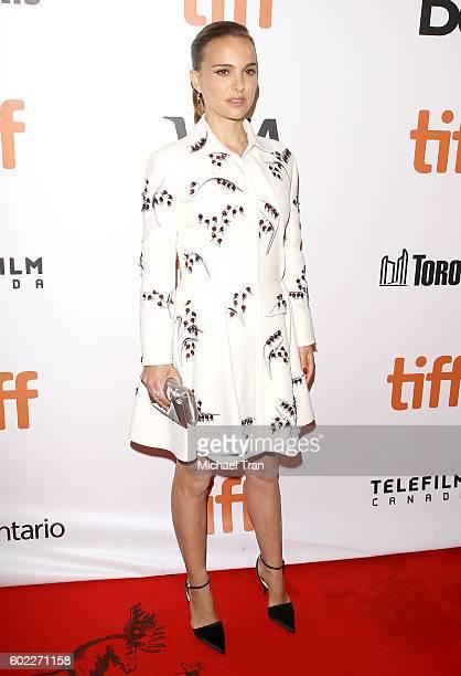 Natalie Portman arrives at the 2016 Toronto International Film Festival 'Planetarium' premiere held at Roy Thomson Hall on September 10 2016 in...