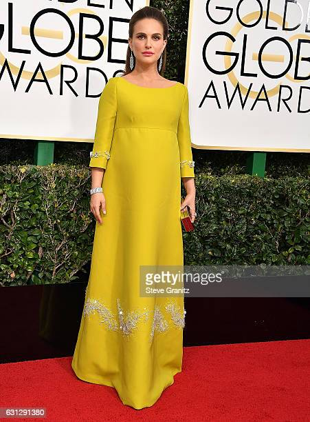 Natalie Portman arrives at the 74th Annual Golden Globe Awards at The Beverly Hilton Hotel on January 8 2017 in Beverly Hills California