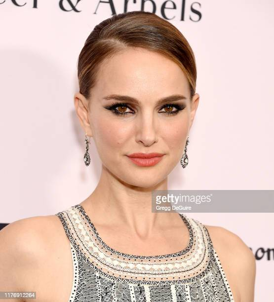 Natalie Portman arrives at the L.A. Dance Project Annual Gala at Hauser & Wirth on October 19, 2019 in Los Angeles, California.