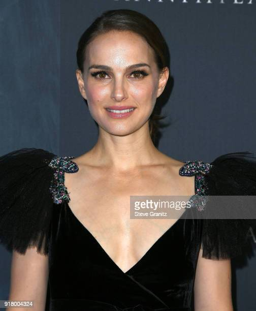 Natalie Portman arrives at the Premiere Of Paramount Pictures' 'Annihilation' at Regency Village Theatre on February 13 2018 in Westwood California