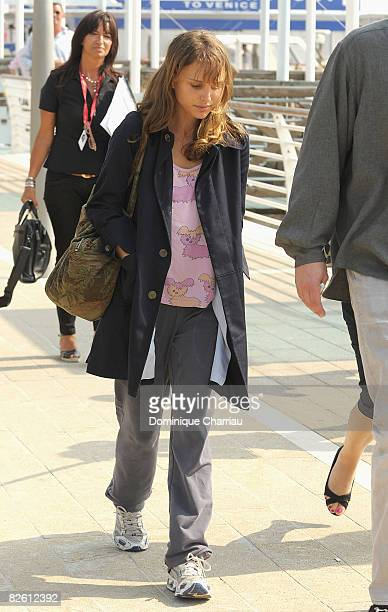 Natalie Portman arrives at Venice airport during the 65th Venice Film Festival on August 31 2008 in Venice Italy