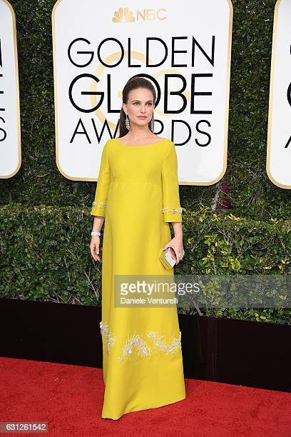 Natalie Portman attend the 74th Annual Golden Globe Awards at The Beverly Hilton Hotel on January 8 2017 in Beverly Hills California