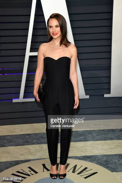 Natalie Portman attends 2019 Vanity Fair Oscar Party Hosted By Radhika Jones at Wallis Annenberg Center for the Performing Arts on February 24 2019...