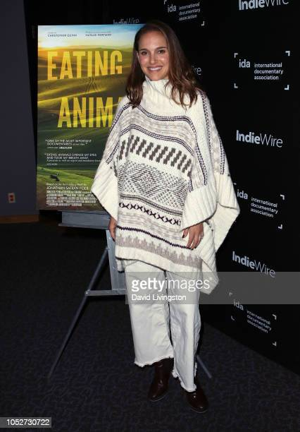 Natalie Portman attends a special screening of 'Eating Animals' hosted by the International Documentary Association at the DGA Theater on October 21...