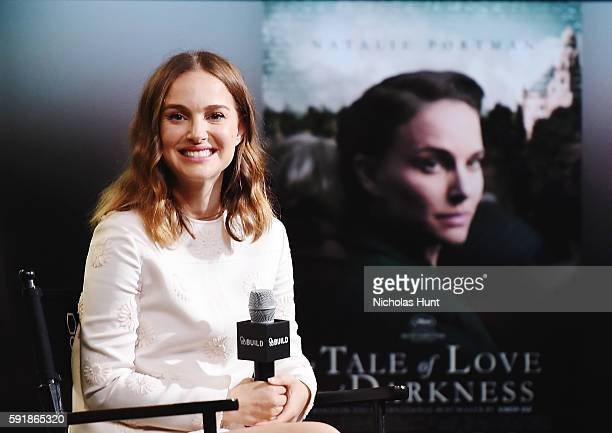 Natalie Portman attends AOL Build Presents Natalie Portman Discussing Her New Film 'A Tale Of Love And Darkness' at AOL HQ on August 18 2016 in New...