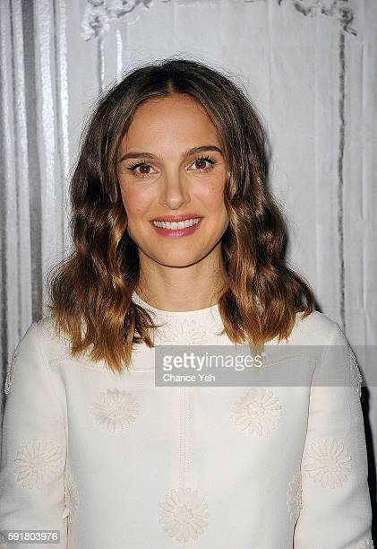 Natalie Portman attends AOL Build to discussing her new film A Tale Of Love And Darkness at AOL HQ on August 18 2016 in New York City