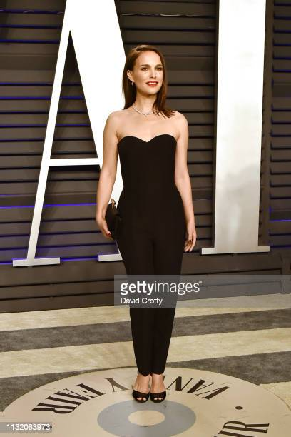 Natalie Portman attends the 2019 Vanity Fair Oscar Party at Wallis Annenberg Center for the Performing Arts on February 24 2019 in Beverly Hills...
