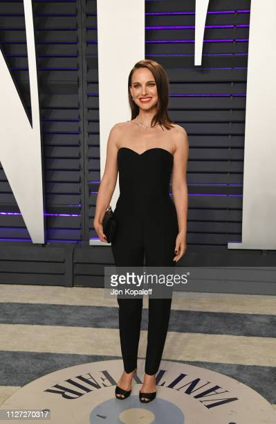 Natalie Portman attends the 2019 Vanity Fair Oscar Party hosted by Radhika Jones at Wallis Annenberg Center for the Performing Arts on February 24,...