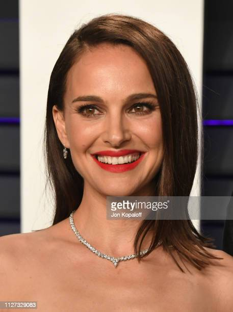 Natalie Portman attends the 2019 Vanity Fair Oscar Party hosted by Radhika Jones at Wallis Annenberg Center for the Performing Arts on February 24...