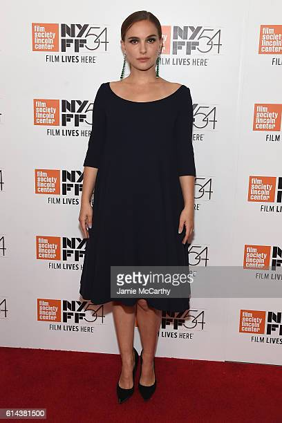 Natalie Portman attends the 54th New York Film Festival Jackie screening intro and QA at Alice Tully Hall Lincoln Center on October 13 2016 in New...