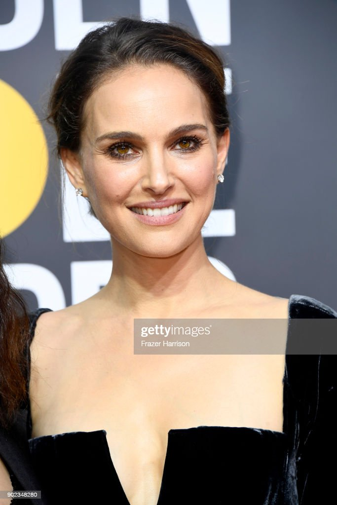 Natalie Portman attends The 75th Annual Golden Globe Awards at The Beverly Hilton Hotel on January 7, 2018 in Beverly Hills, California.