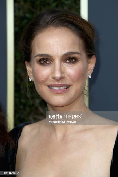 Natalie Portman attends The 75th Annual Golden Globe Awards at The Beverly Hilton Hotel on January 7 2018 in Beverly Hills California