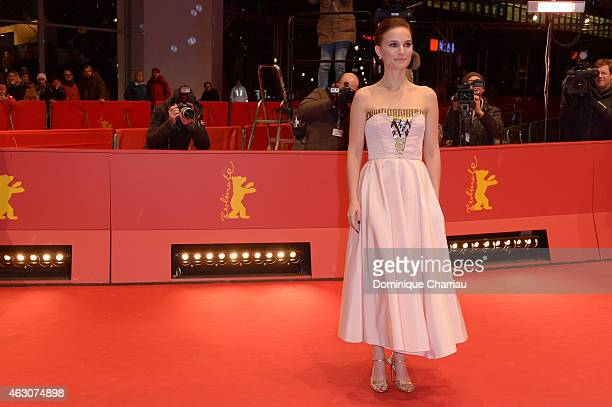 Natalie Portman attends the 'As We Were Dreaming' premiere during the 65th Berlinale International Film Festival at Berlinale Palace on February 9,...