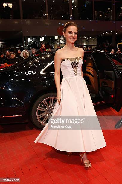 Natalie Portman attends the 'As We Were Dreaming' premiere during the 65th Berlinale International Film Festival at Berlinale Palace on February 9...