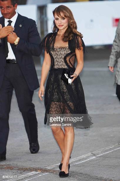 "Natalie Portman attends the ""Birdwatchers - La Terra Degli Uomini Rossi"" during the 65th Venice Film Festival on September 1, 2008 in Venice, Italy."
