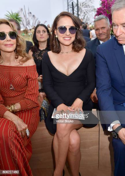 Natalie Portman attends the Christian Dior Haute Couture Fall/Winter 20172018 show as part of Haute Couture Paris Fashion Week on July 3 2017 in...