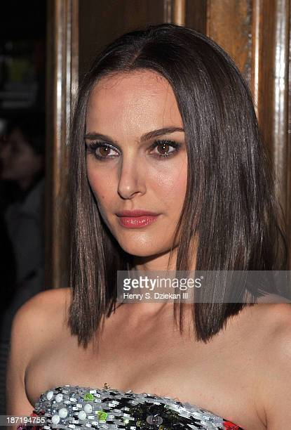Natalie Portman attends The Cinema Society Dior Beauty screening of Thor The Dark World after party at Marlton Hotel on November 6 2013 in New York...