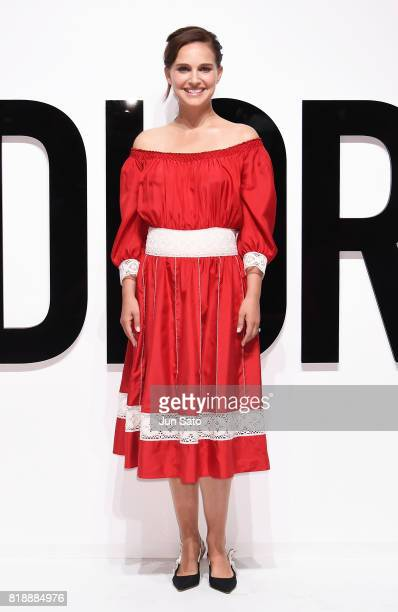 Natalie Portman attends the Dior For Love photocall at Warehouse Terrada on July 19 2017 in Tokyo Japan