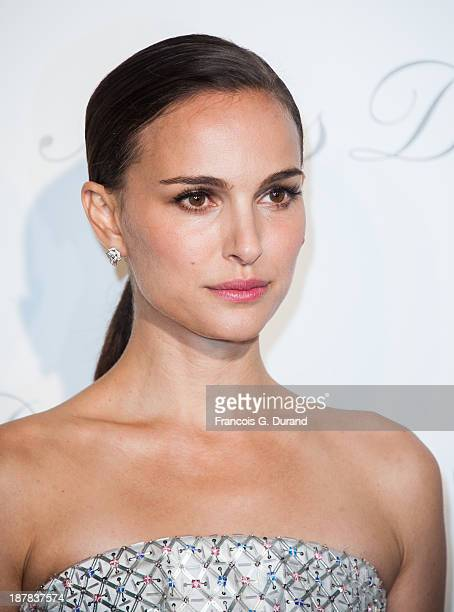 Natalie Portman attends the 'Esprit Dior Miss Dior' Exhibition Opening at Grand Palais on November 12 2013 in Paris France