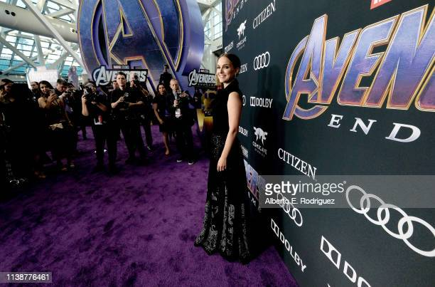 Natalie Portman attends the Los Angeles World Premiere of Marvel Studios' Avengers Endgame at the Los Angeles Convention Center on April 23 2019 in...