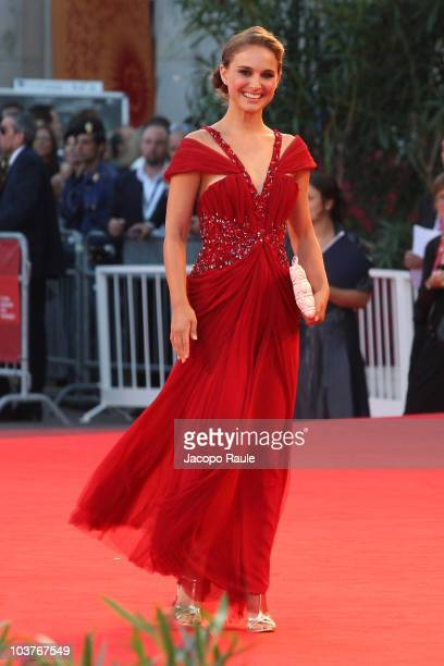 Natalie Portman attends the opening ceremony and the 'Black Swan' premiere at the Palazzo del Cinema during the 67th Venice International Film...