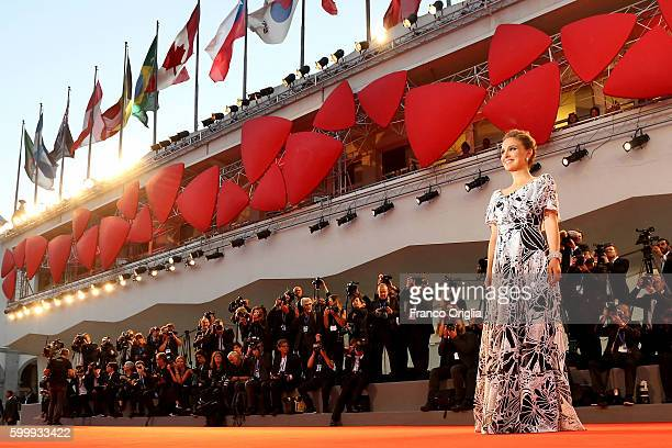 Natalie Portman attends the premiere of 'Jackie' during the 73rd Venice Film Festival at Sala Grande on September 7 2016 in Venice Italy