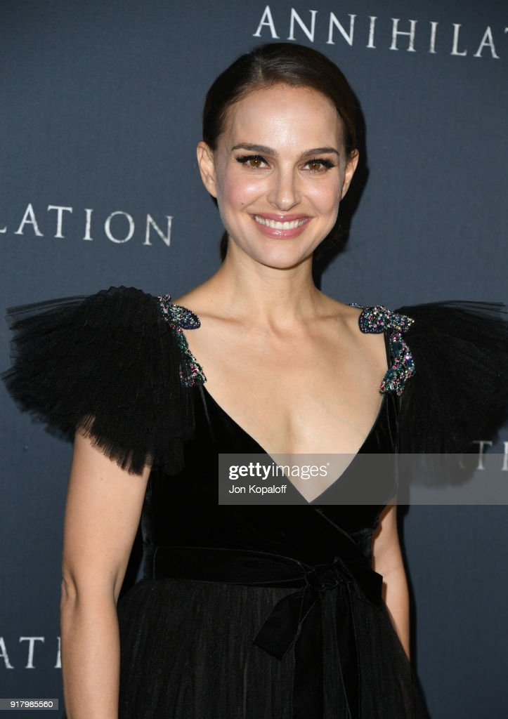 Natalie Portman attends the premiere of Paramount Pictures' 'Annihilation' at Regency Village Theatre on February 13, 2018 in Westwood, California.