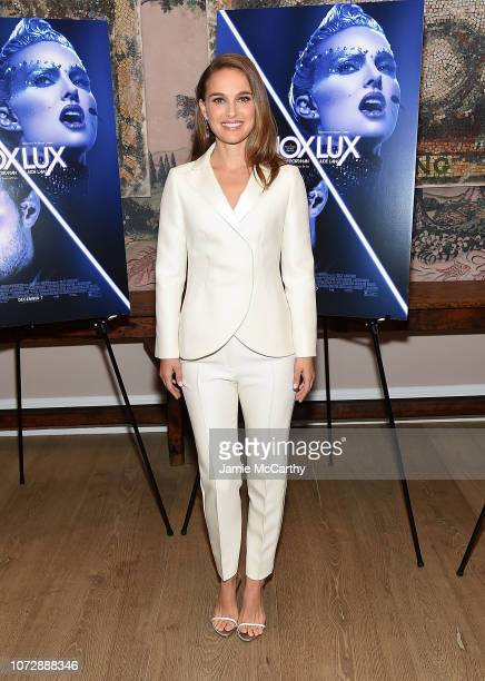 Natalie Portman attends the Vox Lux New York Screening at the Whitby Hotel on December 13 2018 in New York City