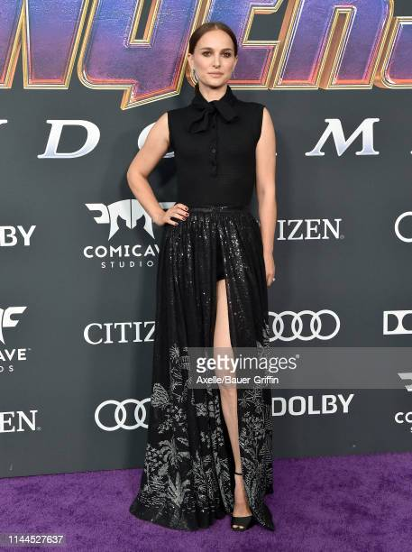 Natalie Portman attends the World Premiere of Walt Disney Studios Motion Pictures 'Avengers Endgame' at Los Angeles Convention Center on April 22...