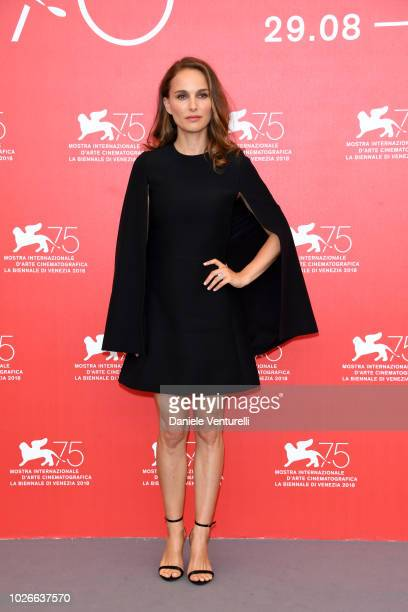 Natalie Portman attends 'Vox Lux' photocall during the 75th Venice Film Festival at Sala Casino on September 4, 2018 in Venice, Italy.