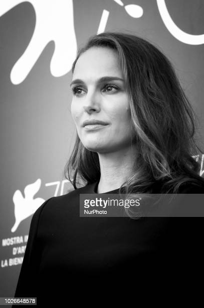 Image has been converted to black and white Natalie Portman attends 'Vox Lux' photocall during the 75th Venice Film Festival on September 4 2018 in...