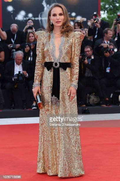 Natalie Portman attends 'Vox Lux' Red Carpet during the 75th Venice Film Festival at Sala Grande on September 4 2018 in Venice Italy