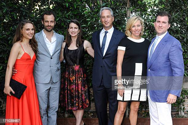 Natalie Portman, Benjamin Millepied, Catharine Soros, Jeffrey Soros, Sutton Stracke and Christian Stracke attend 2013 Los Angeles Dance Project...
