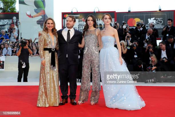 Natalie Portman Brady Corbet Stacy Martin and Raffey Cassidy walks the red carpet ahead of the 'Vox Lux' screening during the 75th Venice Film...