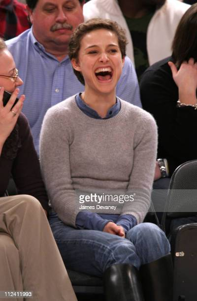 Natalie Portman during Celebrities Attend Los Angeles Lakers vs New York Knicks Game January 31 2006 at Madison Square Garden in New York City New...