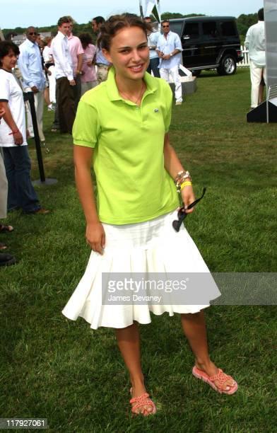 Natalie Portman during Natalie Portman hosts the 2002 Mercedes-Benz Polo Challenge at Bridgehampton Polo Club in Bridgehampton, New York, United...