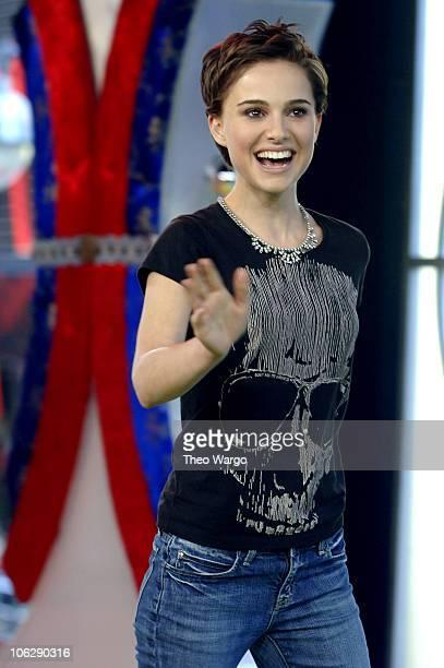 "Natalie Portman during Natalie Portman Visits MTV's ""TRL"" - March 14, 2006 at MTV Studios in New York City, New York, United States."