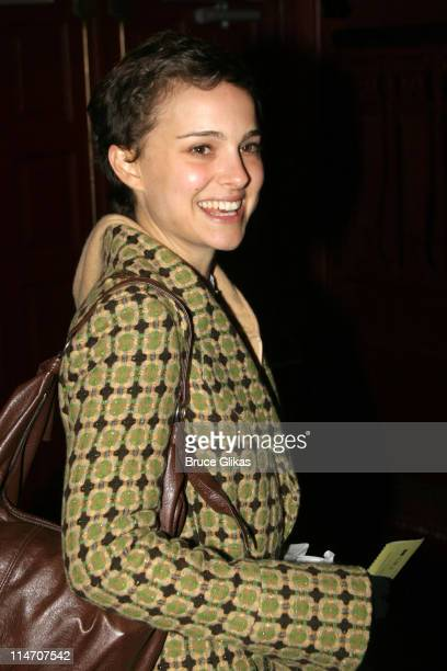 Natalie Portman during Sarah Jones' Bridge and Tunnel Broadway Opening Night Arrivals at Helen Hayes Theatre in New York City New York United States