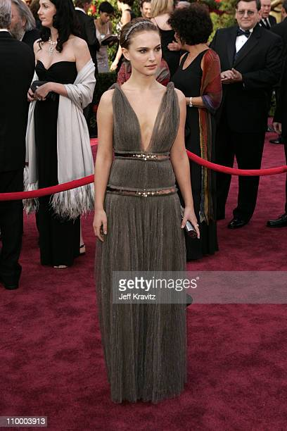 Natalie Portman during The 77th Annual Academy Awards Arrivals at Kodak Theatre in Los Angeles California United States