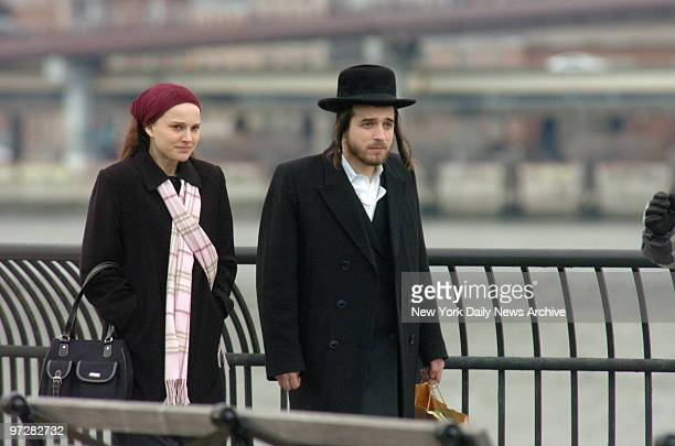 Natalie Portman filming the movie ' New York I Love You' a movie consisting of short stories this scene is filmed in the State Park under the Bklyn...