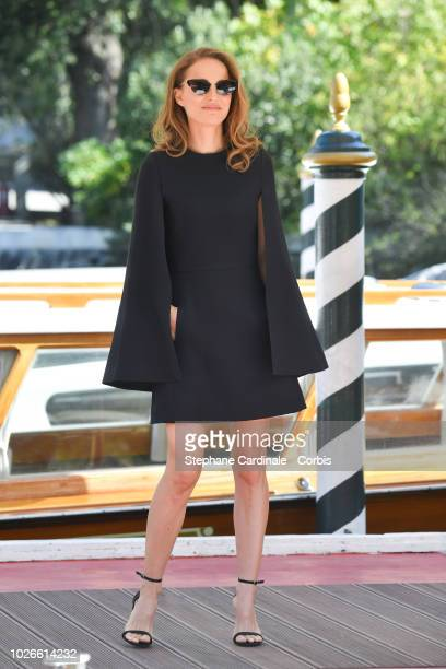 Natalie Portman is seen arriving at the 75th Venice Film Festival on September 4, 2018 in Venice, Italy.