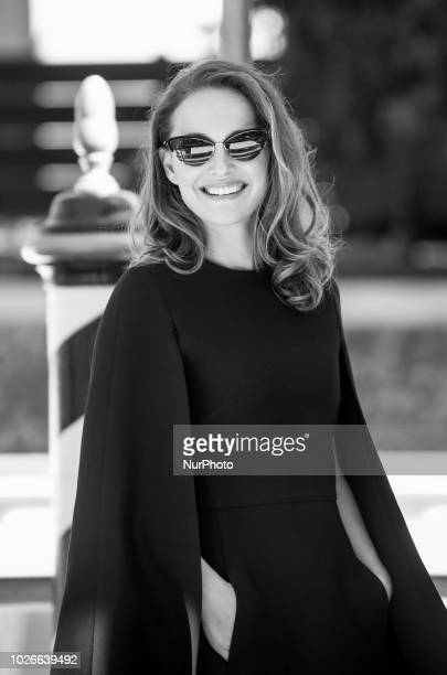 Image has been converted to black and white Natalie Portman is seen during the 75th Venice Film Festival on September 4 2018 in Venice Italy