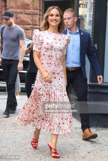 Natalie Portman is seen on October 02 2019 in New York City